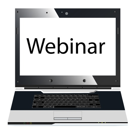 Webinar concept isolated on white Stock Photo - 9819741