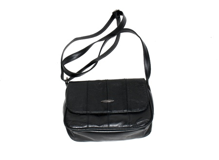 Black Ladies handbag isolated Stock Photo - 9818636