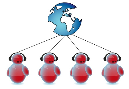 Call center connected to the world Stock Photo - 9819830