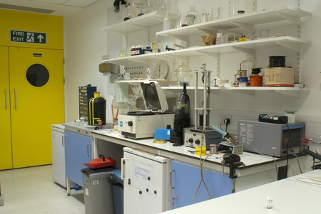 Photograph of a laboratory with lots of equipment Stock Photo - 9819852