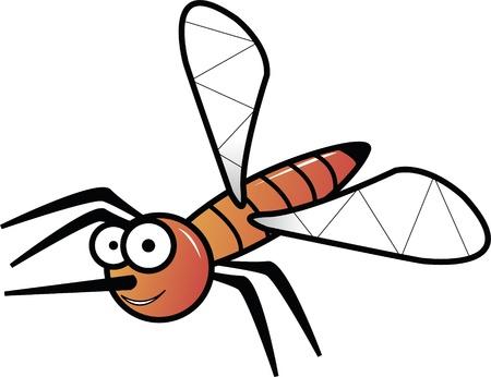 Orange mosquito on white illustration Stock Illustration - 9819714