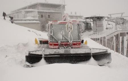 Snow plow on a mountain  Stock Photo - 9922357