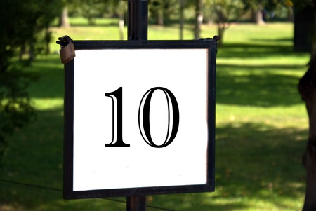 Number 10 on a board Stock Photo - 10019394