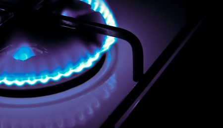 Flame of a gas cooker Stock Photo - 9917654