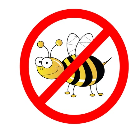 No bees sign illustration isolated on white Stock Illustration - 10019230