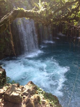 Puente de dios or gods bridge, beautiful waterfalls and the rapids  Stock fotó