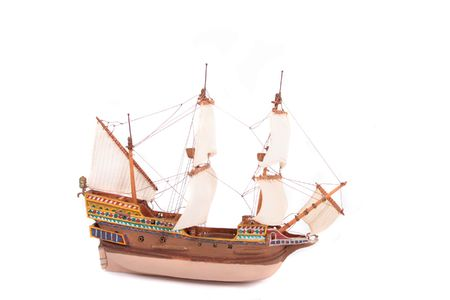 replica: model of ship