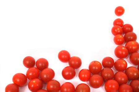 many red tomatoes on the white background Stock Photo - 2019252