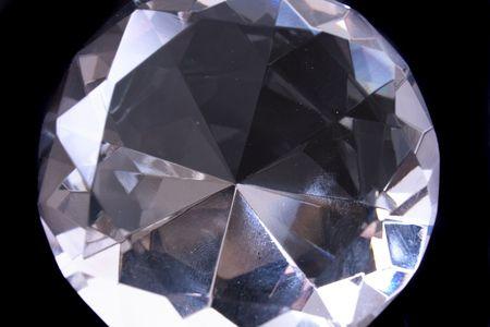 beautiful diamond on the black glass  background Stock Photo - 2492328