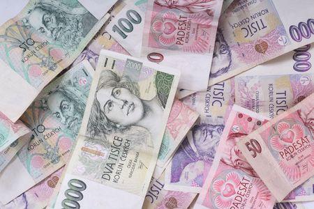 new color european money background (czech republic) Stock Photo - 2737460