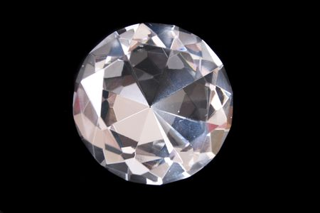 beatiful big diamond on the black background Stock Photo - 2746646
