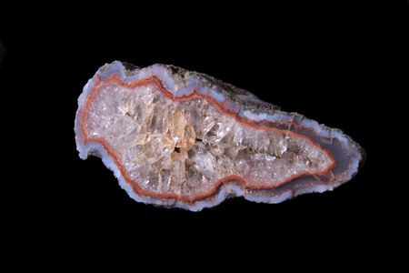 volcanic stones: beatiful big agate on the black background