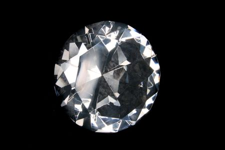 big shiny briliant on the black background Stock Photo - 2800386