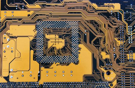 electronic circuit from motherboard as technological background Stock Photo - 3122479