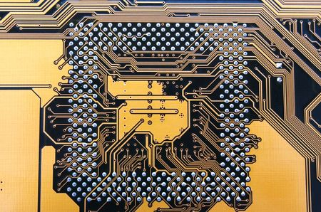 electronic circuit from motherboard as technological background  Stock Photo - 3122478