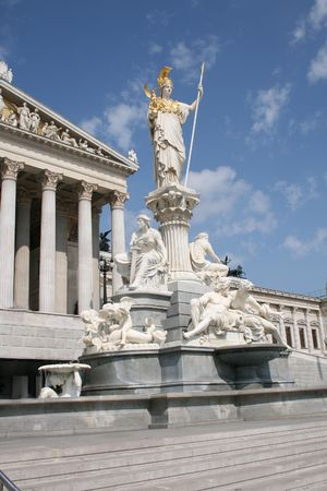 Parlament: historical building of parlament in center Vienna