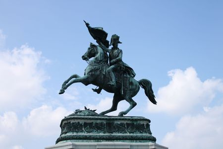 old statue of the napoleon in Vienna  Stock Photo