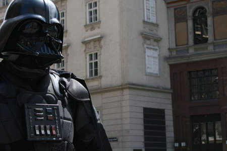 starwars: man from star wars in the city Stock Photo