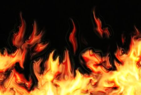 wildfire: abstract fire background generated by the computer  Stock Photo