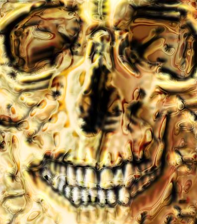 abstract skull background generated by the computer  photo