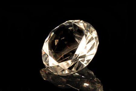 big shiny diamond on the black background  Stock Photo - 3752538