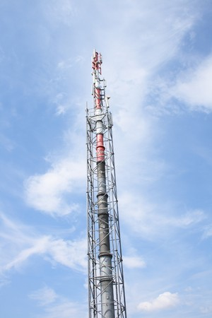 gsm tower on the blue sky background Stock Photo - 4017633