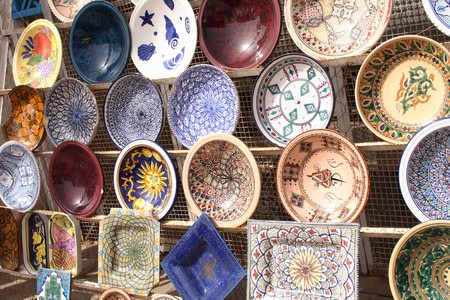 typical souvenirs from tunisia (very nice color ceramics)