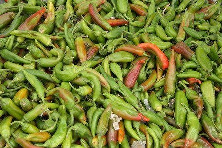 pungent: pepper background in the green and red color