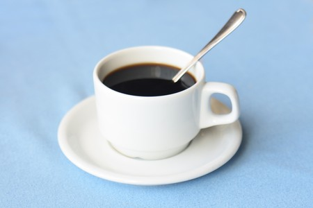 cofee cup: cup of cofee on the blue background