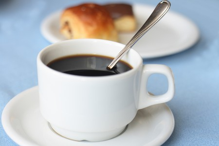 cofee cup: sweet dessert and and cup of cofee