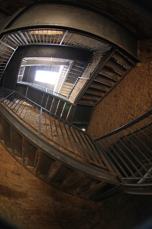 interesting stairs in the very old castle photo