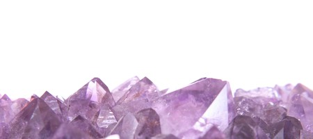 gemology: real amethyst background from the czech republic Stock Photo