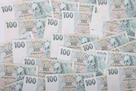 an abstract background from one hundred banknotes Stock Photo - 4681708