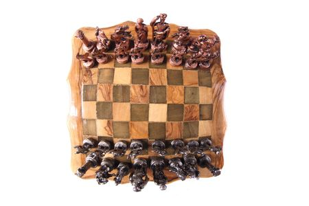 very nice chess on the white background photo