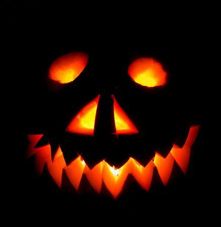 hollows: nice halloween pumpkin on the black background Stock Photo