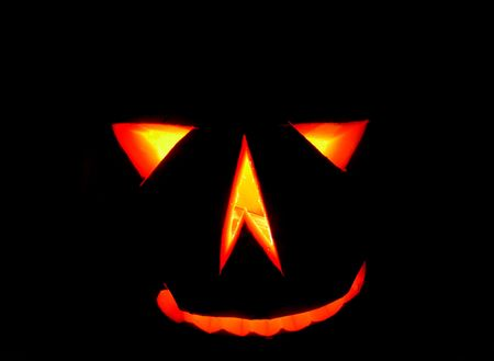 nice halloween pumpkin on the black background Stock Photo - 5304110