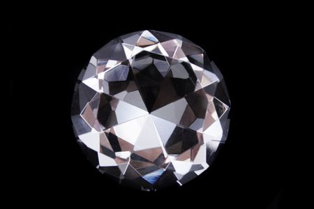 nice diamond isolated on the black background Stock Photo - 5433365