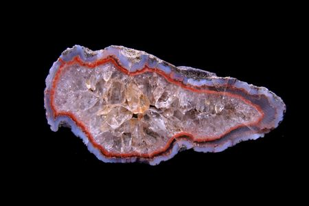 nice color agate isolated on the black background photo