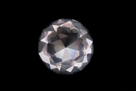 a big diamond on the black background Stock Photo - 5548724