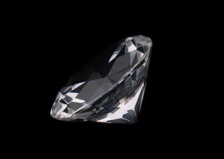 a big diamond on the black background Stock Photo - 5548731