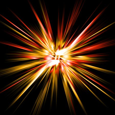 nice  explosion background generated by the computer
