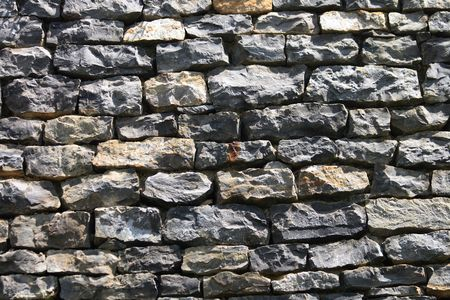 nice old stone wall as architecture background photo