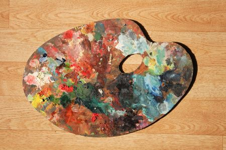 abstract muliticolor background with the old palette Stock Photo - 6283602