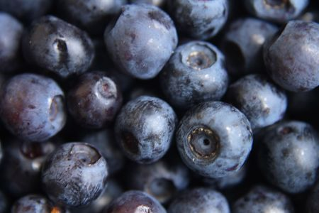 nice food: fresh blueberries as very nice food background Фото со стока