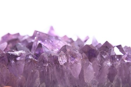 amethyst: violet amethyst isolated on the white background