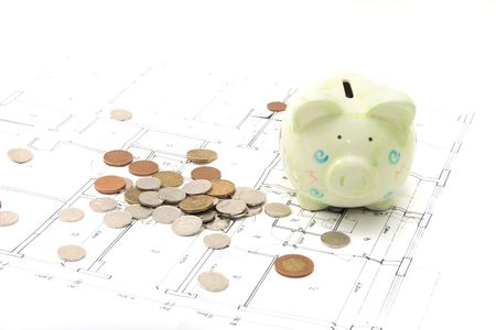 plan of my house on the white background with my savings photo