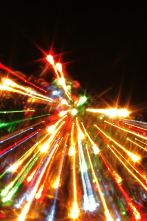 sfondo Xmas dalle luci di colore diverso