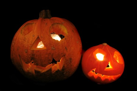 hollows: traditional halloween pumpkin as very nice  holiday background