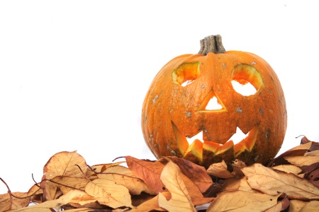 hollows: halloween pumpkin isolated on the white background Stock Photo