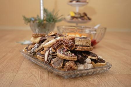 nice food: czech christmas cookies as very nice food background